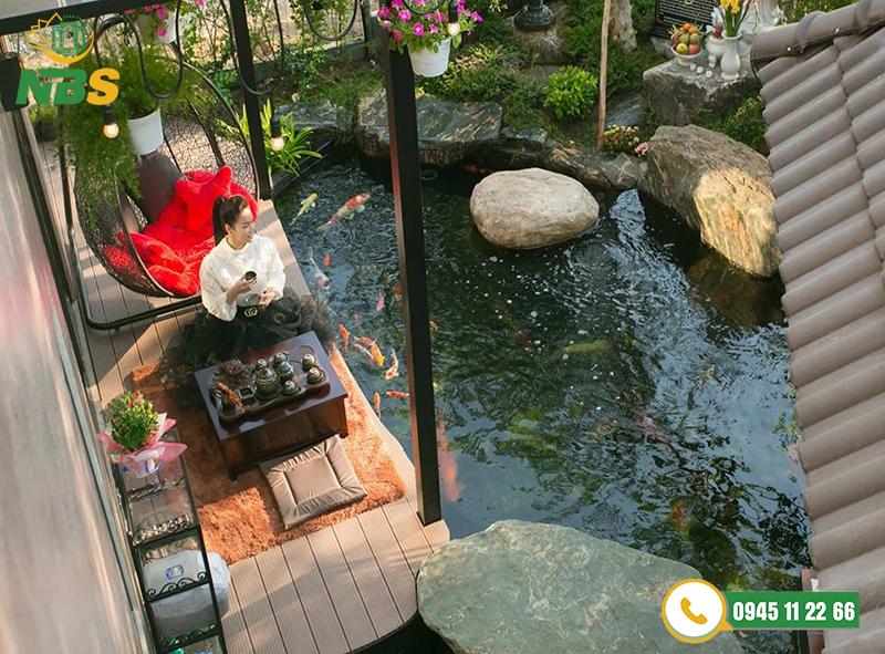 Dự án cảnh quan sân vườn suối kết hợp hồ cá koi NBS