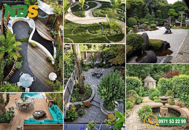 Mẫu thiết kế sân vườn đẹp tại NBS