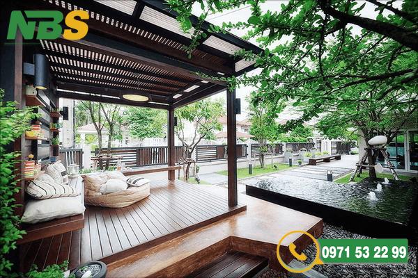 Thiết kế thi công sân vườn mang lại không gian trong lành