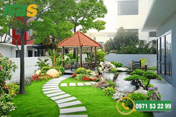 Thiết kế thi công sân vườn với bố cục hợp lý