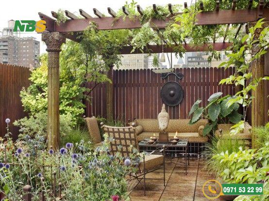 Mẫu thiết kế sân vườn phong cách Châu Âu cổ điển