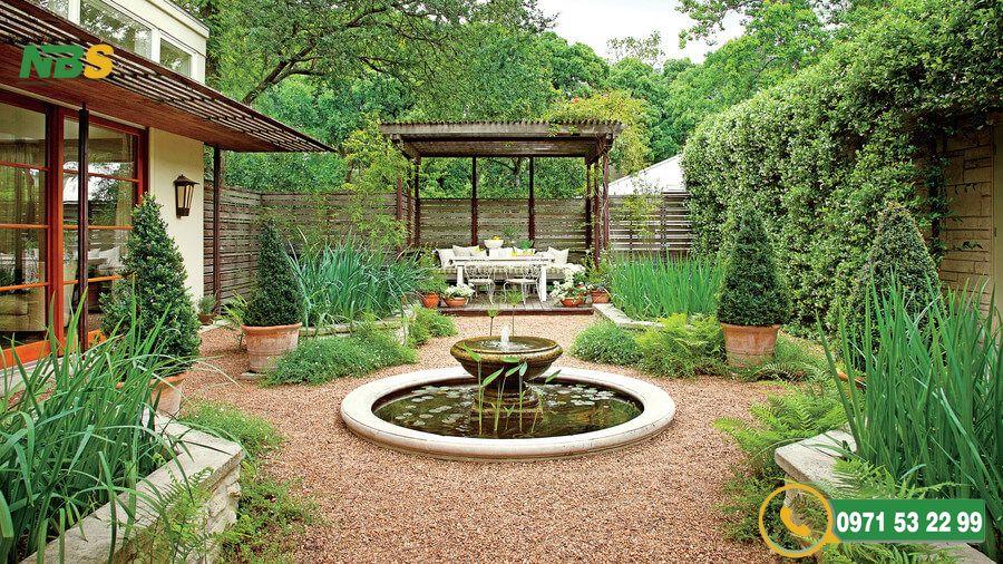 Mẫu thiết kế sân vườn phong cách Châu Âu độc đáo