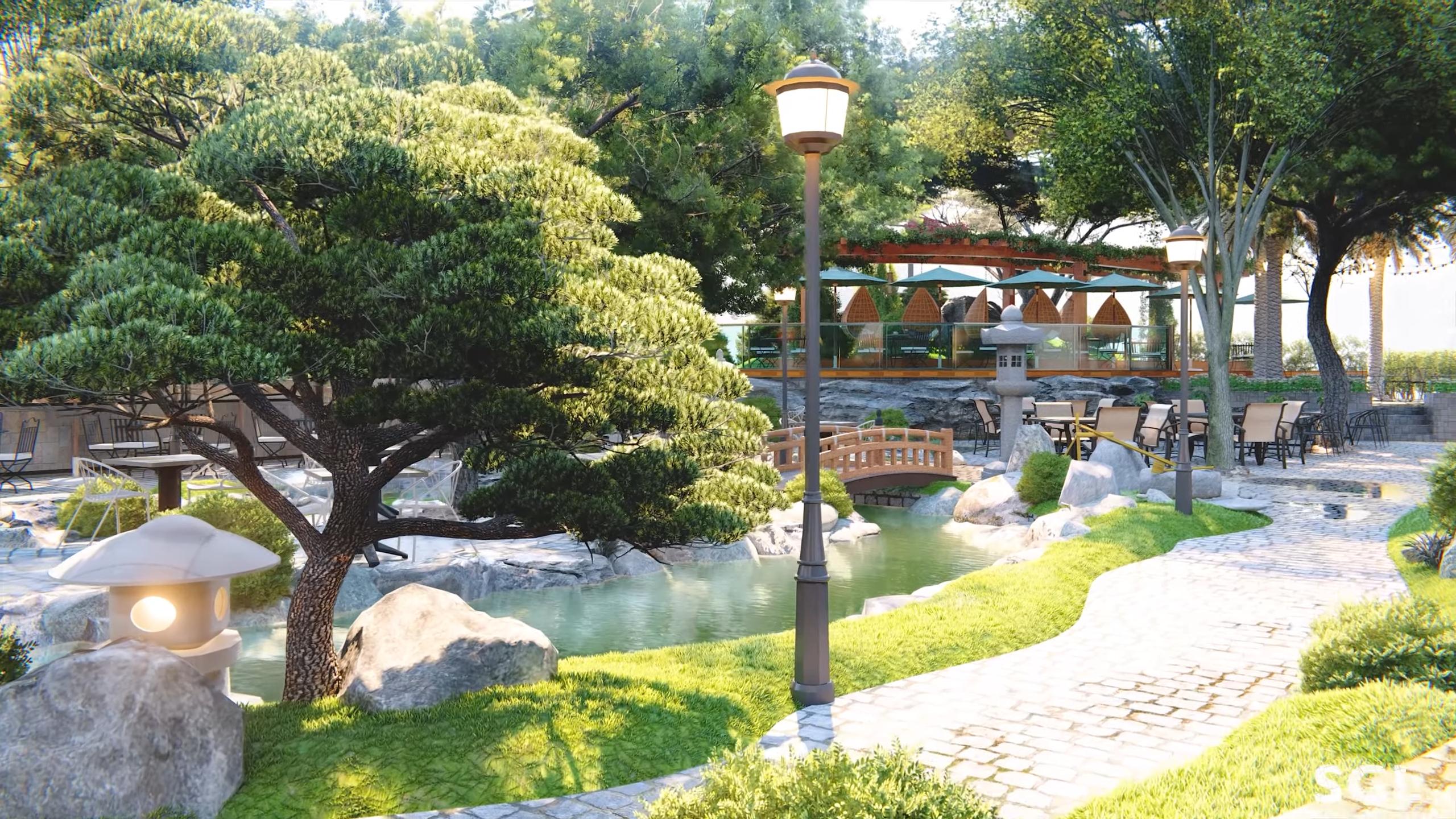 Phong cách thiết kế cảnh quan sân vườn NBS