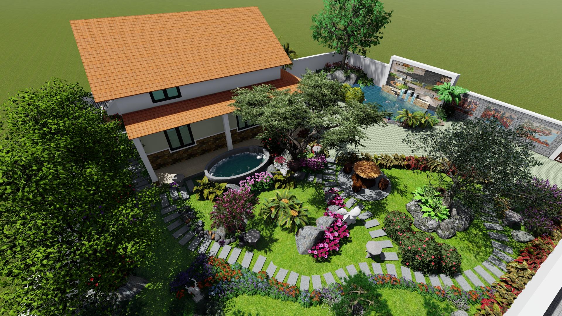 thiết kế nhà vườn NBS