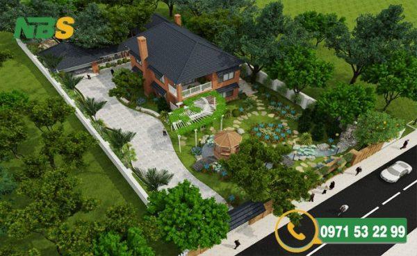 Mẫu thiết kế nhà đẹp vườn giá cả hợp lý