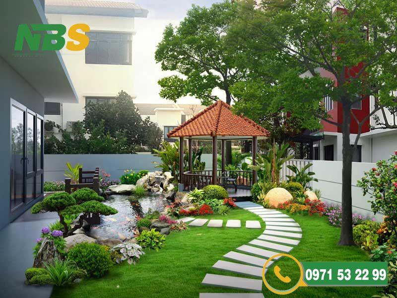 Thiết kế nhà vườn cho không gian sân vườn rộng rãi