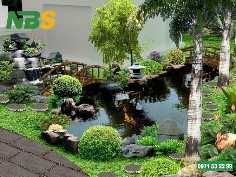 Thiết kế thi công hồ cá koi có thể được đặt ở nhiều vị trí khác nhau cho phù hợp với cảnh quan