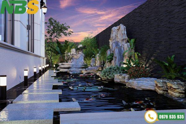 Thiết kế thi công hồ cá Koi cho nhà phố