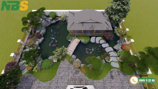 Thiết kế thi công hồ cá Koi đẹp cho các công trình, công viên lớn