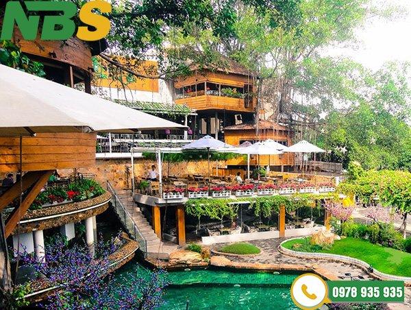 Thiết kế tiểu cảnh quán cafe vườn quê