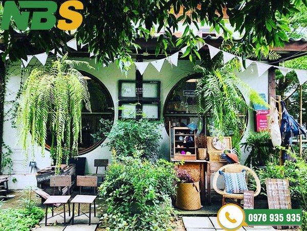 Thiết kế tiểu cảnh quán cafe vườn nhiệt đới