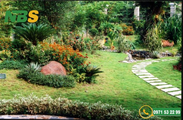 Lối đi trong thiết kế nhà vườn không nên thẳng tắp mà cần có khúc quanh co