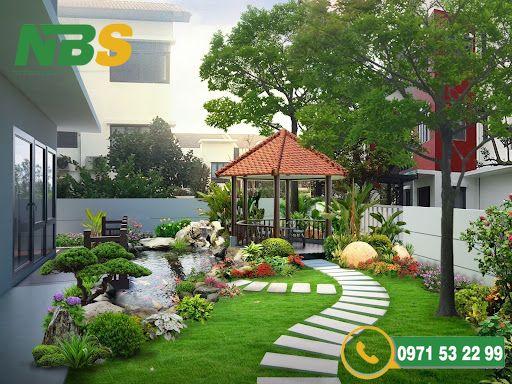 Thiết kế tiểu cảnh sân vườn biệt thự hợp phong thủy