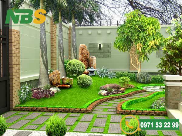 Một không gian tiểu cảnh sân vườn xanh tươi mát