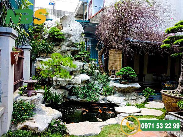 Mẫu tiểu cảnh sân vườn cho biệt thự mới lạ