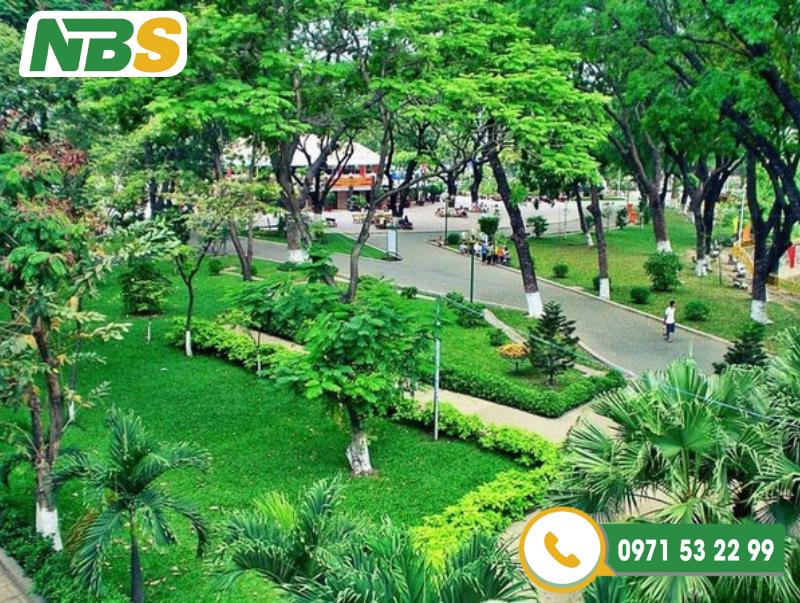 Thiết kế cảnh quan công viên cây xanh giúp điều hoà môi trường không khí, diệt vi khuẩn và giảm tiếng ồn