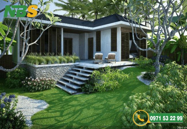 Thiết kế thi công nhà vườn theo phong cách hiện đại