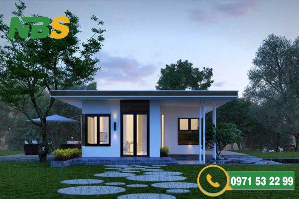 Đảm bảo bố cục chặt chẽ khi thiết kế nhà vườn mái bằng
