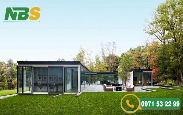 Thiết kế nhà vườn mái bằng độc đáo