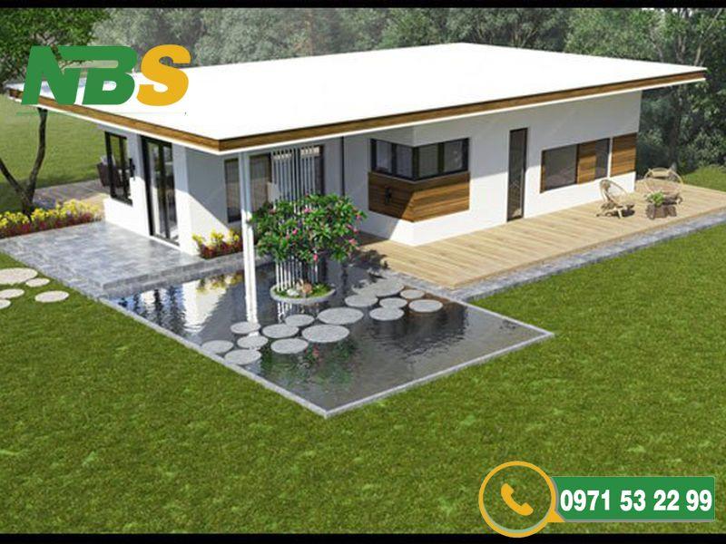 Tạo không gian xanh cho thiết kế nhà vườn mái bằng