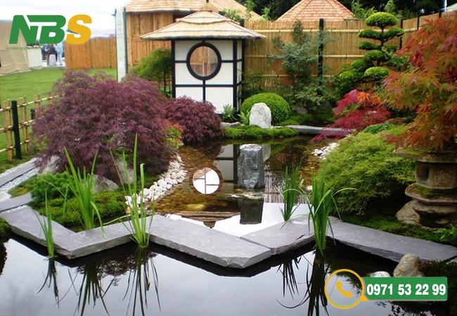 Thiết kế sân vườn nhỏ kiểu Nhật hiện đại