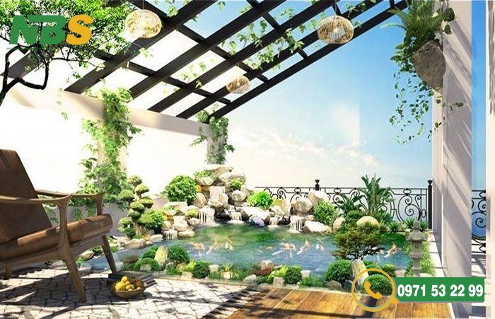 Thiết kế nhà vườn 2 tầng tạo không gian gần gũi với thiên nhiên