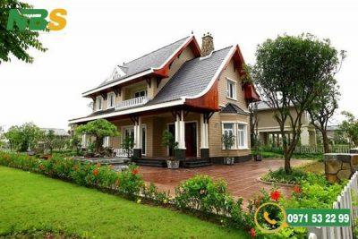 Quy trình thiết kế nhà vườn 2 tầng mái Thái đẹp