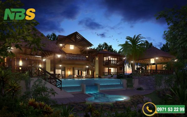 Mẫu thiết kế cảnh quan resort phong cách Á Đông