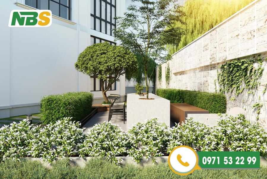 Thiết kế biệt thự sân vườn đơn giản