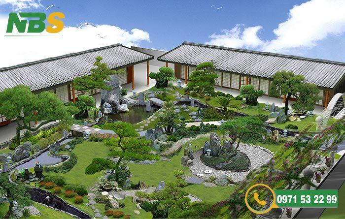 Mẫu thiết kế sân vườn kiểu Nhật sang trọng
