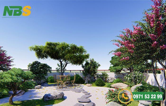 Yếu tố đá trong thiết kế sân vườn kiểu Nhật
