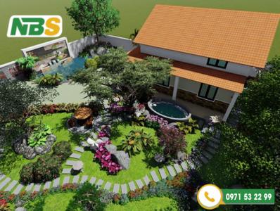 Thiết kế sân vườn nhà quê đẹp mỹ mãn