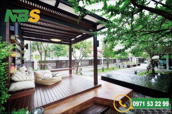Thiết kế thi công sân vườn biệt thự tạo không gian xanh