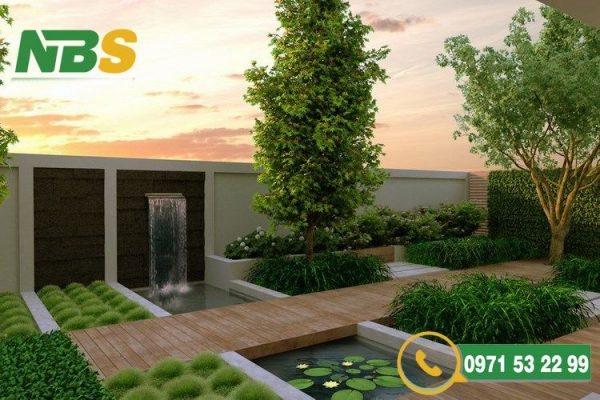 Thiết kế thi công sân vườn hiện đại đầy tính nghệ thuật