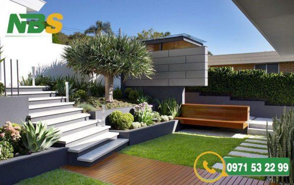 Thiết kế thi công sân vườn biệt thự theo hơi hướng hiện đại
