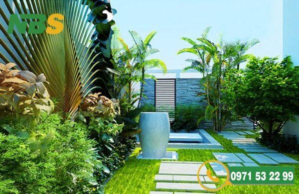 Thiết kế thi công sân vườn biệt thự không gian riêng biệt nổi bật
